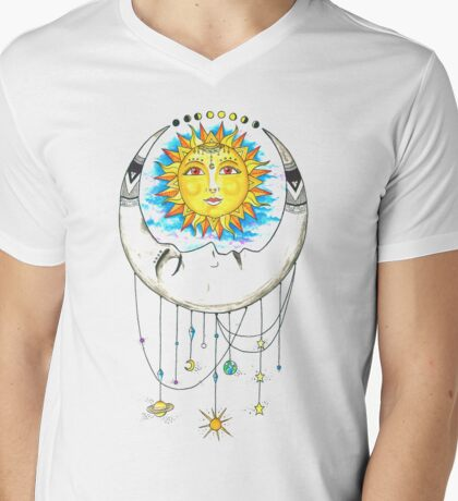 Astronomical Harmony Mens V-Neck T-Shirt