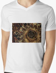 Earthy gemstone fractal Mens V-Neck T-Shirt