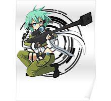 Sinon Sword Art/Gun Gale Online Anime Graphic T-shirt Poster