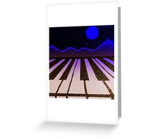 Pianolandscape (blue) Greeting Card