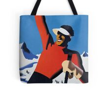 Vintage Austria Winter Sport Skiing Travel Poster Tote Bag