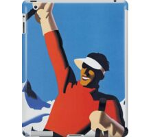 Vintage Austria Winter Sport Skiing Travel Poster iPad Case/Skin