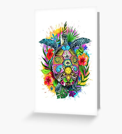 Hang Loose Turtle Greeting Card