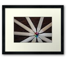 Coloured school pencil rainbow Framed Print