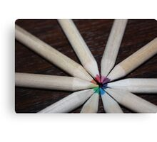 Coloured school pencil rainbow Canvas Print