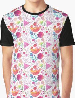 Happy Bird, Pretty Bird, Pink Bird Graphic T-Shirt
