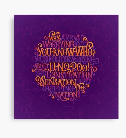 U-No-Poo Canvas Print