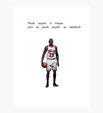 Michael Jordan - Basketball - Phrase Photographic Print