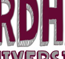Fordham University Sticker
