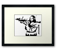 Banksy - Mona Lisa Bazooka Framed Print