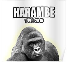 Harambe - 1999 to 2016 Poster