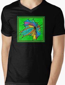FlutterBy Transparent Overlay Mens V-Neck T-Shirt