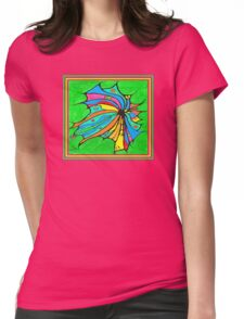 FlutterBy Transparent Overlay Womens Fitted T-Shirt