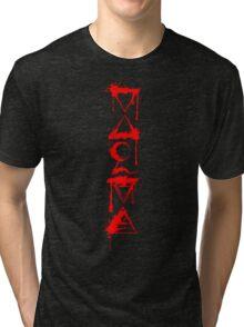 FOUR ELEMENTS PLUS ONE V  - red splat Tri-blend T-Shirt