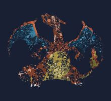 Charizard Splatter Kids Clothes