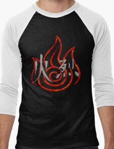 Firebending Men's Baseball ¾ T-Shirt