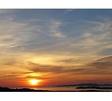 Connemara Sunset  Photographic Print