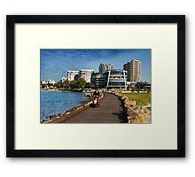 J.E Boat harbour artistic rendition Framed Print