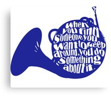 How I Met Your Mother Blue French Horn Canvas Print