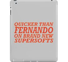 Quicker than Alonso iPad Case/Skin