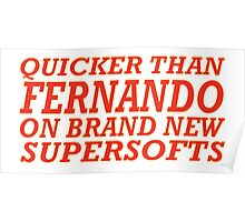Quicker than Alonso Poster