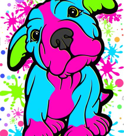 Colourful Pit Bull Puppy  Sticker