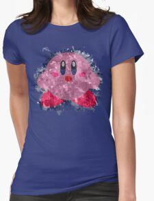 Kirby Splatter Womens Fitted T-Shirt