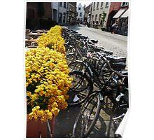 Bikes at Brugge (Bruges), Belgium Poster