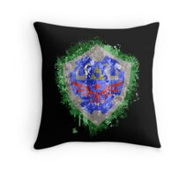 Hylian Shield Splatter Throw Pillow