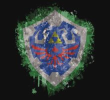 Hylian Shield Splatter Kids Tee