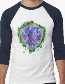 Hylian Shield Splatter Men's Baseball ¾ T-Shirt