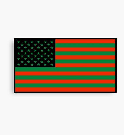 Pan-African American Flag 2 Canvas Print