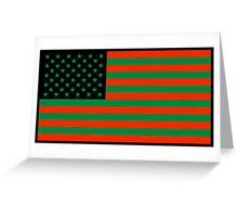 Pan-African American Flag 2 Greeting Card