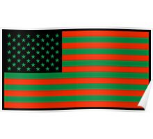 Pan-African American Flag 2 Poster