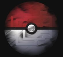 Brushed Pokeball - Kanto Map T-Shirt