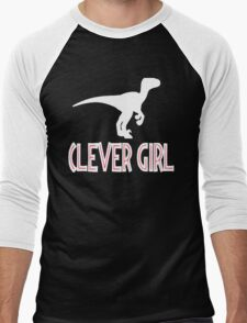 Jurassic Park Quote - Clever Girl Men's Baseball ¾ T-Shirt