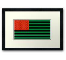 Pan-African American Flag 3 Framed Print