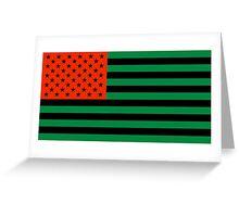Pan-African American Flag 3 Greeting Card