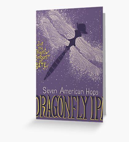 Dragonfly IPA Beer Logo Greeting Card