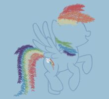 Sprayed Rainbow Dash Kids Tee