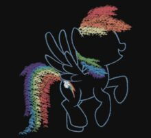 Sprayed Rainbow Dash One Piece - Short Sleeve