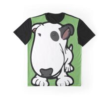 Blabla Black Eye Patch Cartoon Bull Terrier Graphic T-Shirt