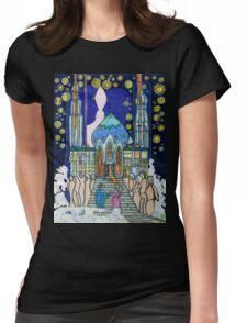 Sometimes, when I lay awake, I build my castle in the clouds Womens Fitted T-Shirt