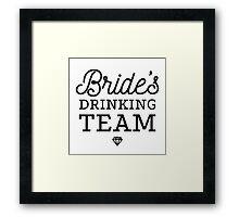 Brides Drinking Team Framed Print