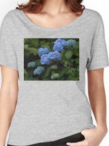 Beautiful Blue Hydrangeas - Preston Temple Grounds Women's Relaxed Fit T-Shirt