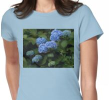 Beautiful Blue Hydrangeas - Preston Temple Grounds Womens Fitted T-Shirt