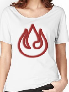 Minimalist Fire Nation Emblem Women's Relaxed Fit T-Shirt