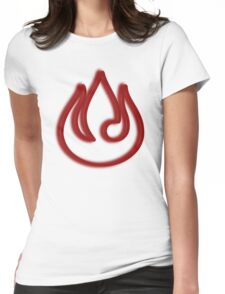 Minimalist Fire Nation Emblem Womens Fitted T-Shirt