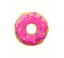 Simpsons Iconic Doughnut  Art Print