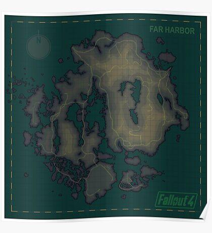 Far Harbor Blank Map Poster